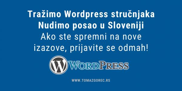 wordpress stručnjak slovenija